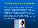 a preventative for alzheimer s