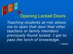opening locked doors