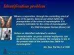 identification problem