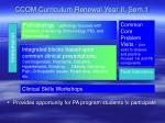 ccom curriculum renewal year ii sem 1