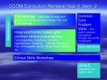 ccom curriculum renewal year ii sem 2