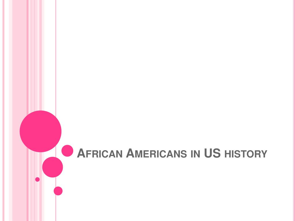 african americans in us history l.