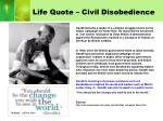 life quote civil disobedience