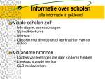informatie over scholen alle informatie is gekleurd