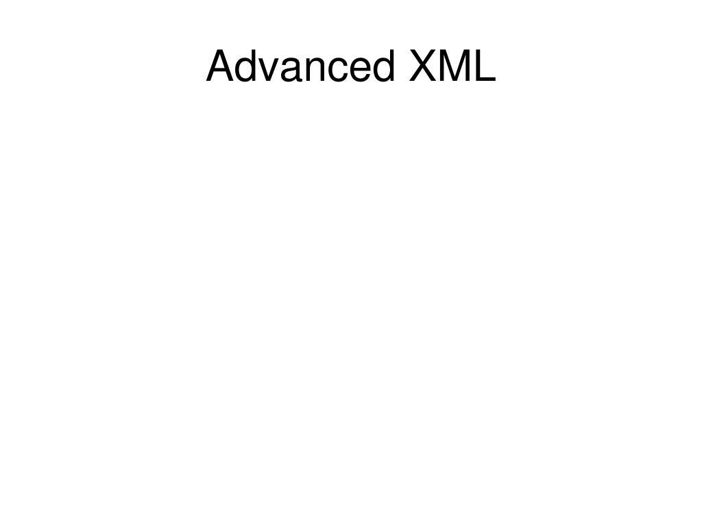 advanced xml l.