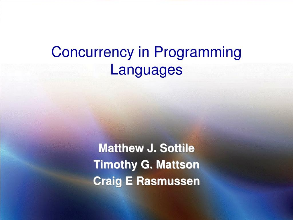 concurrency in programming languages l.