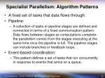 specialist parallelism algorithm patterns