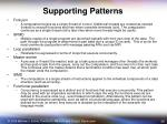 supporting patterns