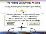 the finding concurrency analysis