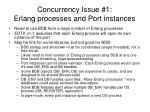 concurrency issue 1 erlang processes and port instances