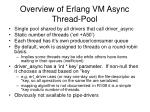overview of erlang vm async thread pool