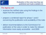 evaluation of the rules how they are published and made available 2