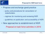 proposal for nsr task force
