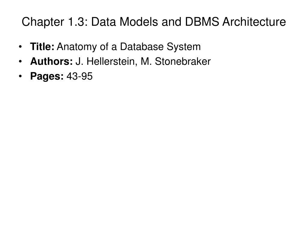 chapter 1 3 data models and dbms architecture l.