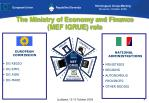 the ministry of economy and finance mef igrue role