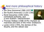 and more philosophical history