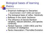 biological bases of learning theory