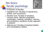 ibn sina s faculty psychology