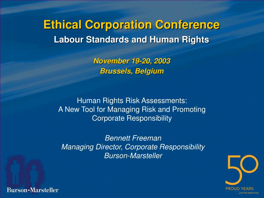 ethical corporation conference l.