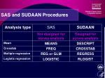 sas and sudaan procedures