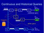 continuous and historical queries