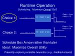 runtime operation scheduling maximize overall qos
