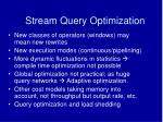 stream query optimization18