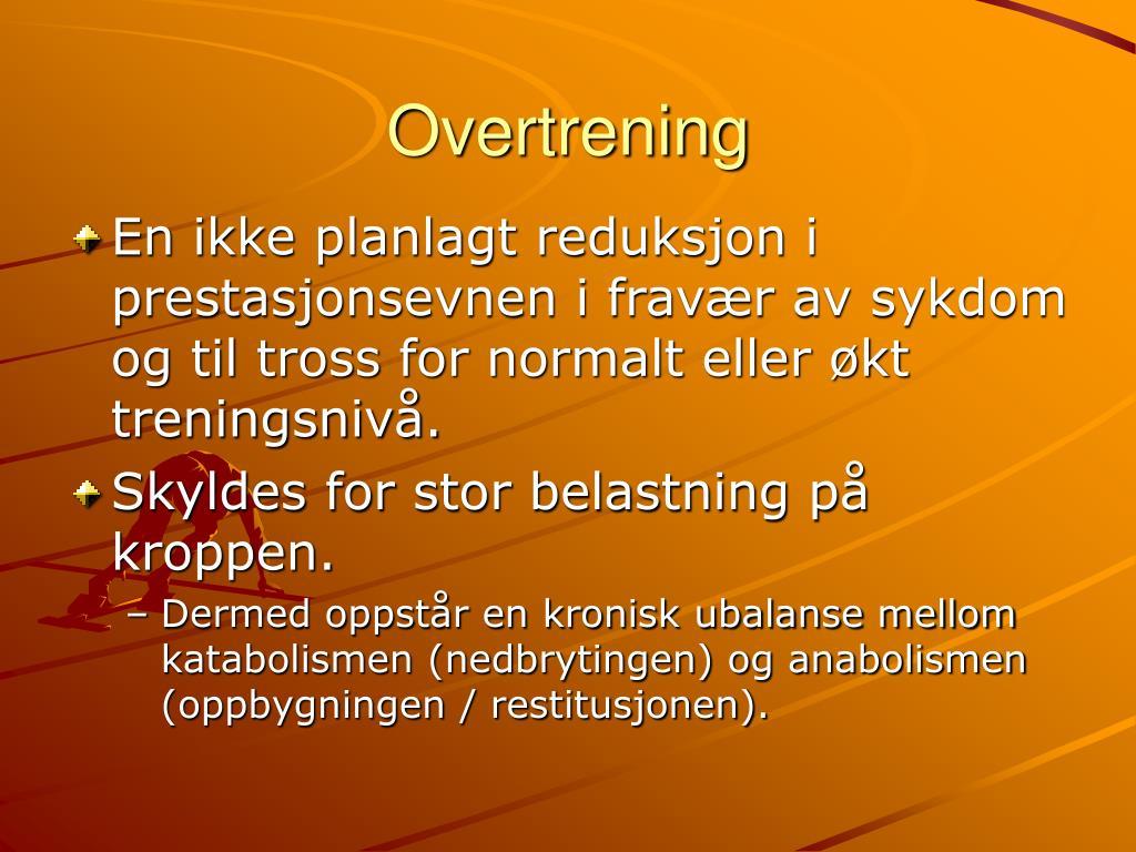 overtrening l.
