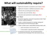 what will sustainability require