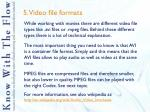 5 video file formats