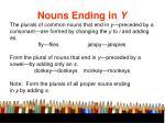 nouns ending in y