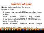 number of noun