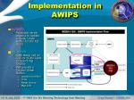 implementation in awips