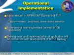 operational implementation