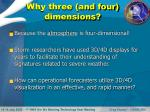 why three and four dimensions