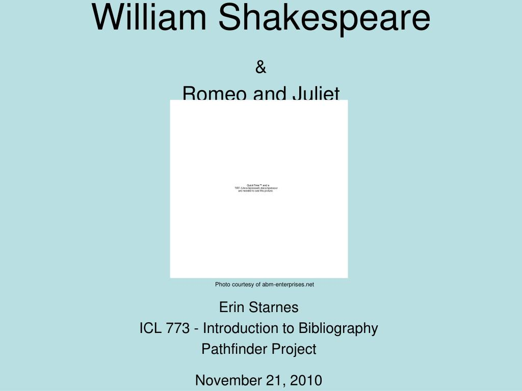 william shakespeare romeo and juliet l.