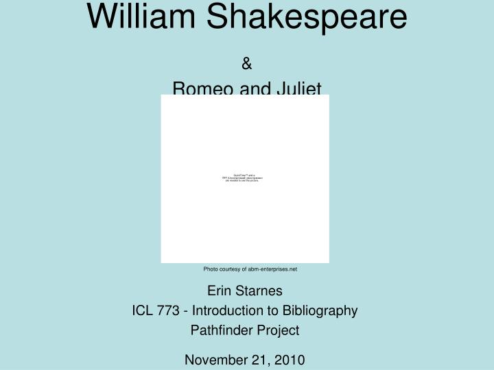 romeo juliet annotated bibliography