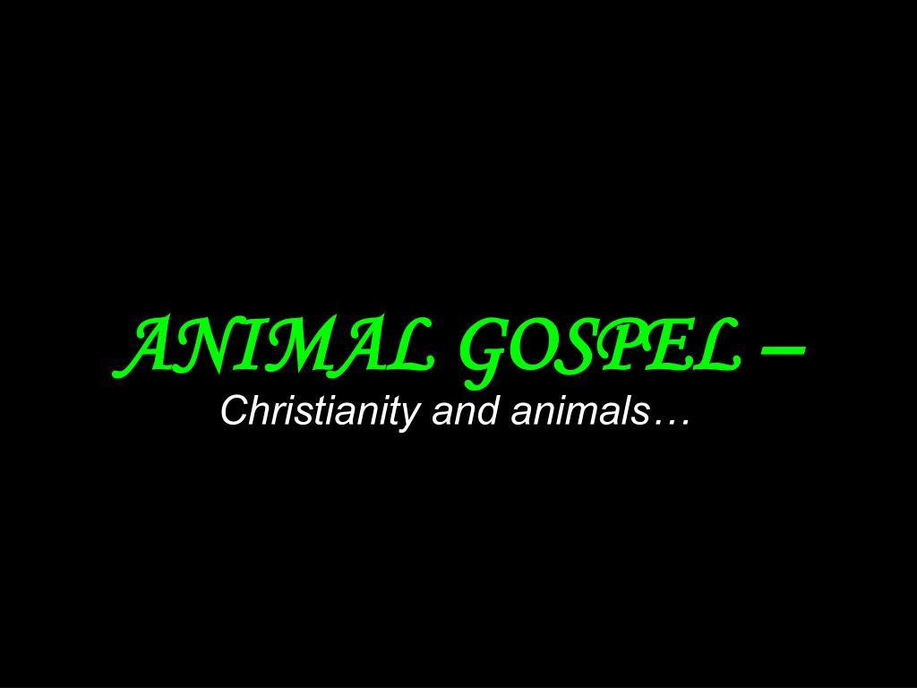animal gospel l.
