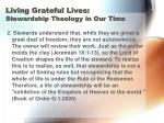 living grateful lives stewardship theology in our time11