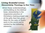 living grateful lives stewardship theology in our time9