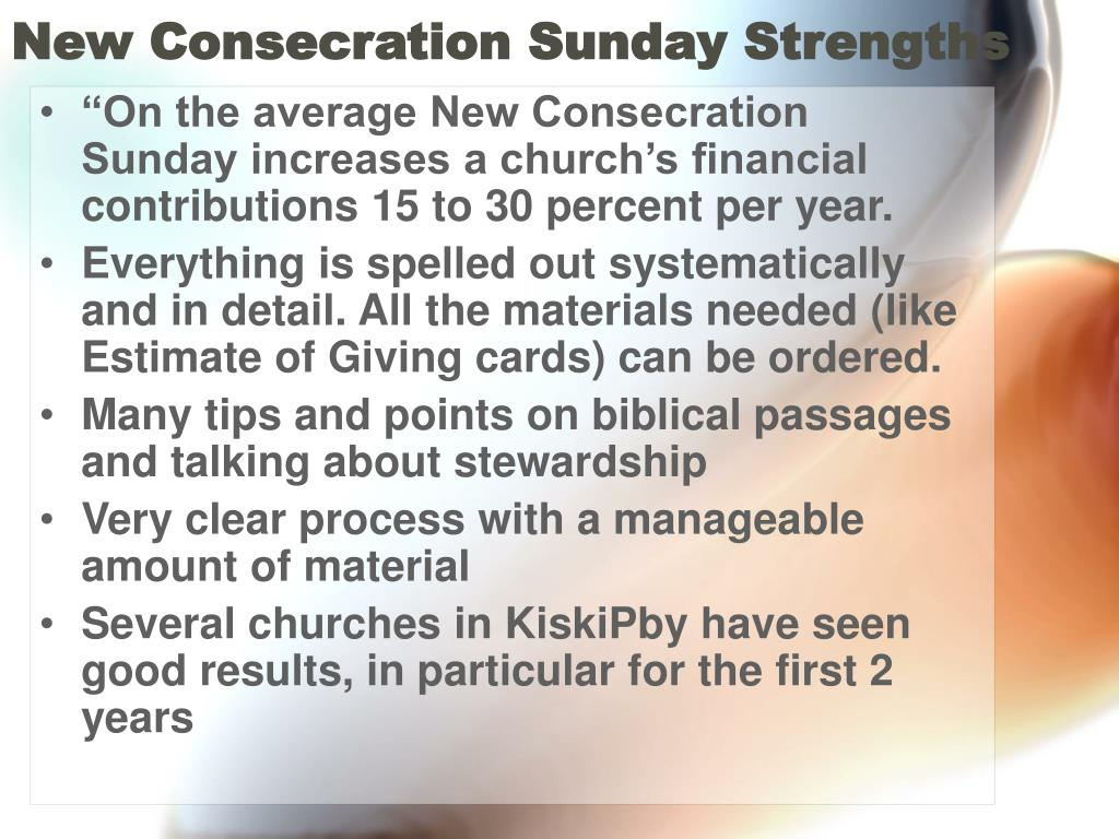 New Consecration Sunday Strengths