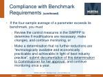 compliance with benchmark requirements continued