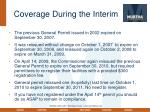 coverage during the interim