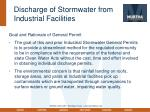 discharge of stormwater from industrial facilities