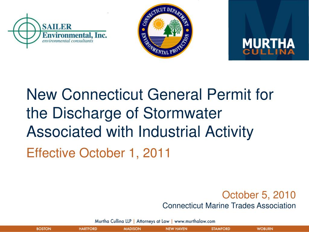 new connecticut general permit for the discharge of stormwater associated with industrial activity l.