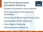 new permit requirements stormwater monitoring