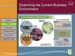 examining the current business environment