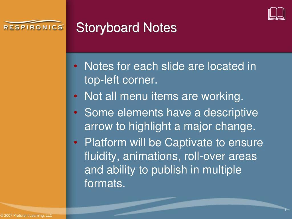 storyboard notes l.