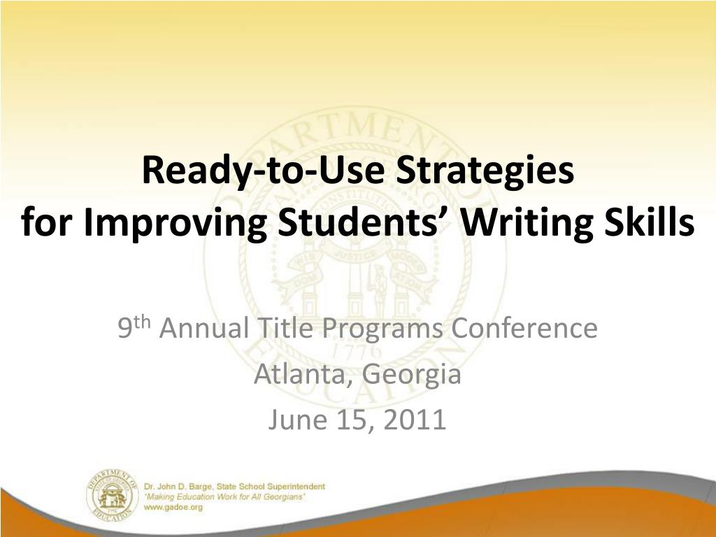 ready to use strategies for improving students writing skills l.