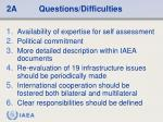 2a questions difficulties